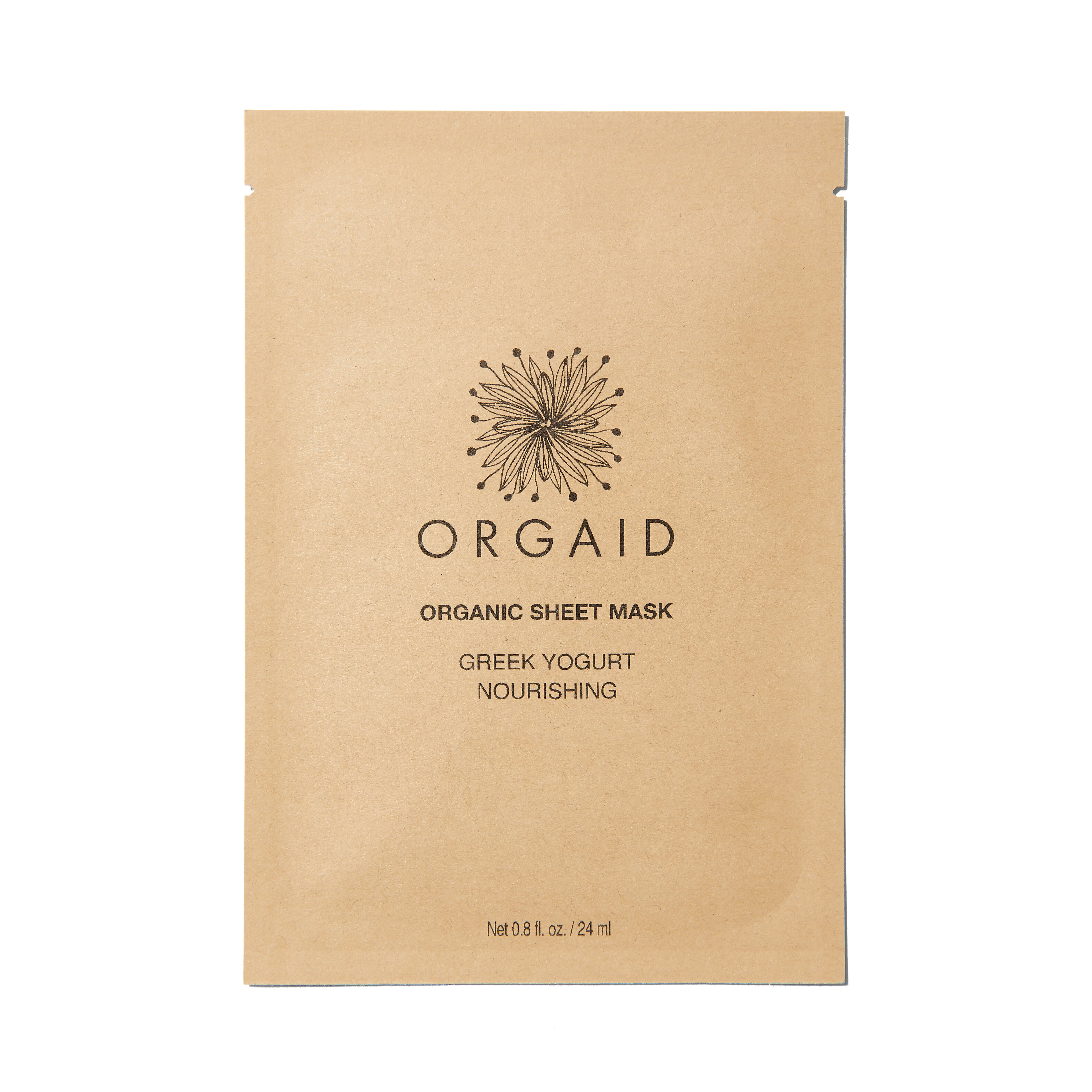 860451000222 - ORGAID Greek Yogurt & Nourishing Organic Sheet Mask