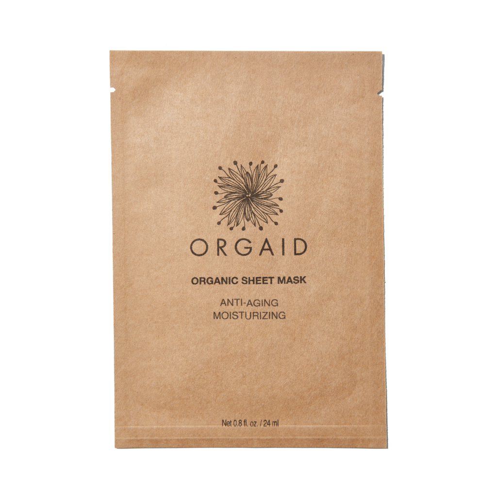 860451000208 - ORGAID Anti Aging & Moisturizing Organic Sheet Mask
