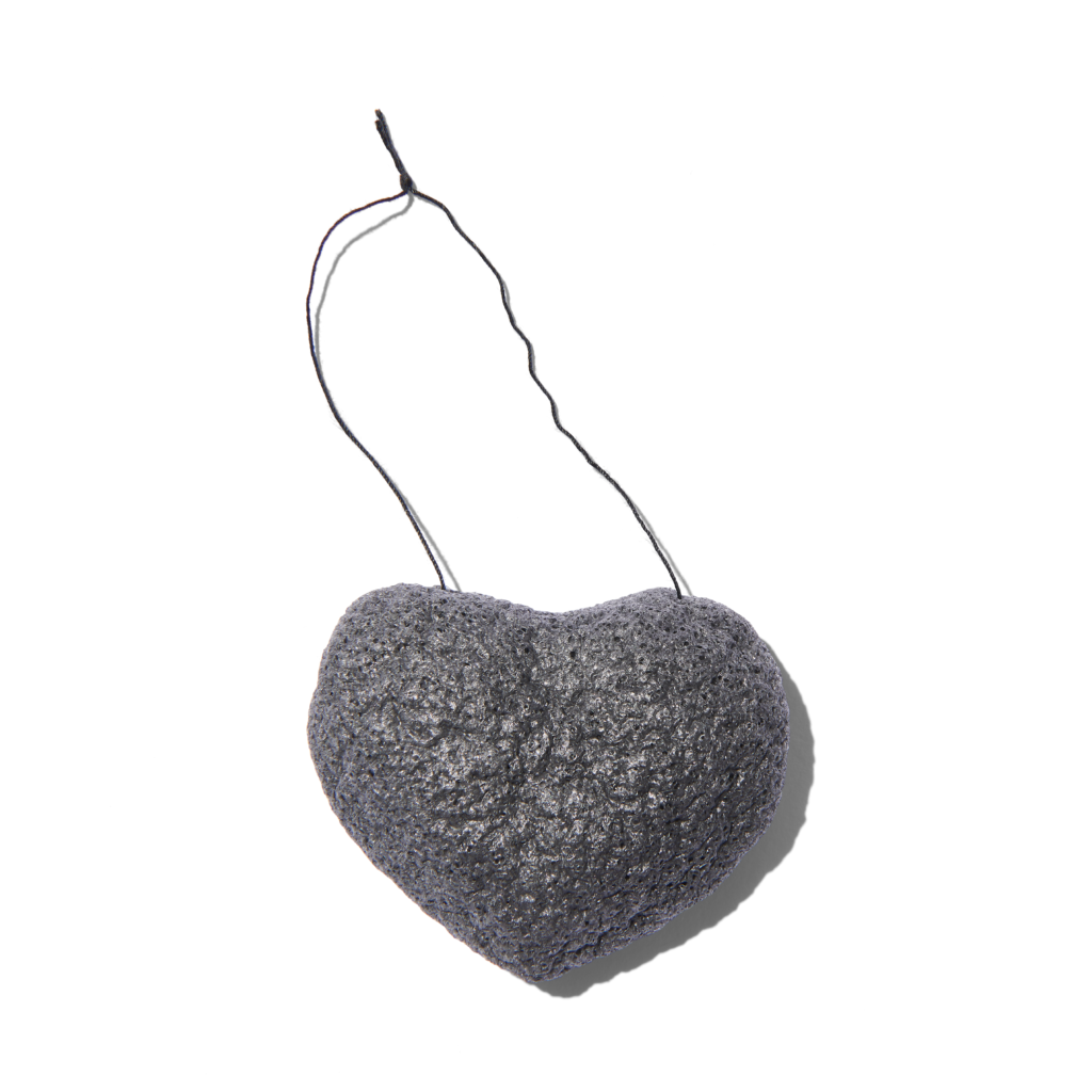 853036002452 - One Love Organics The Cleansing Sponge - Charcoal