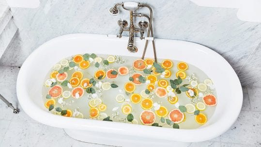 At Home Citrus Bath Spa Treatment