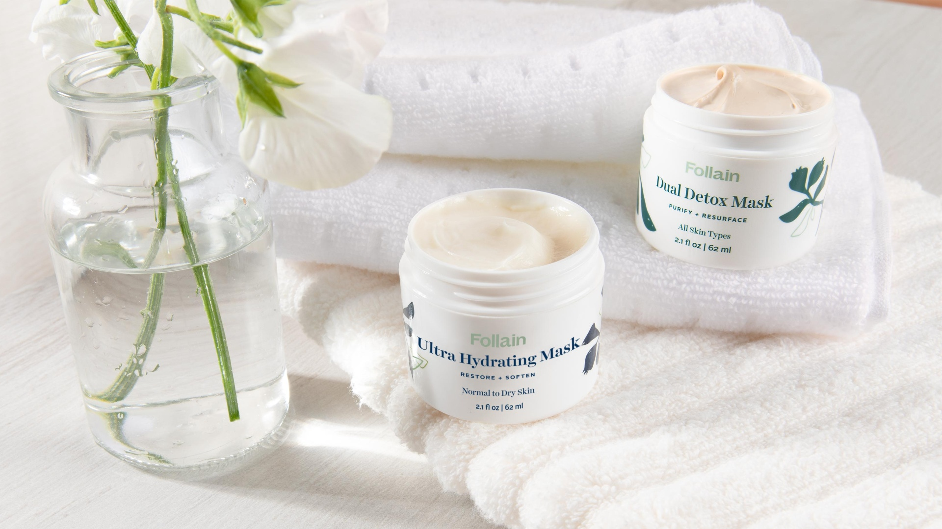 Non-toxic mask duo from Follain